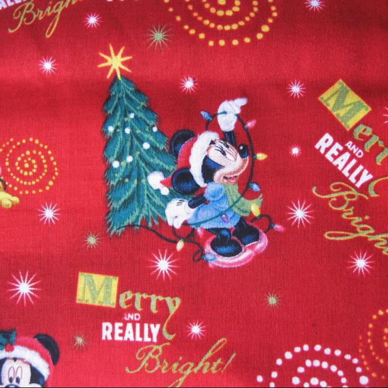 rbol de navidad tela tela de algodn de dibujos animados de mickey mickey navidad