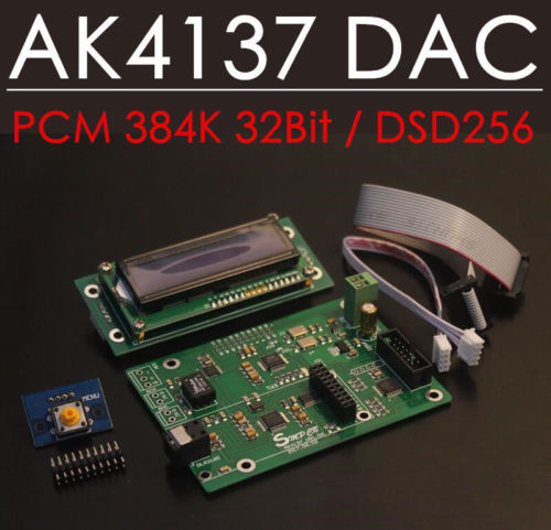 HiFi AK4137 DAC SRC Audio Decoding Board PCM 384K 32Bit DSD256 IIS Conversion цена