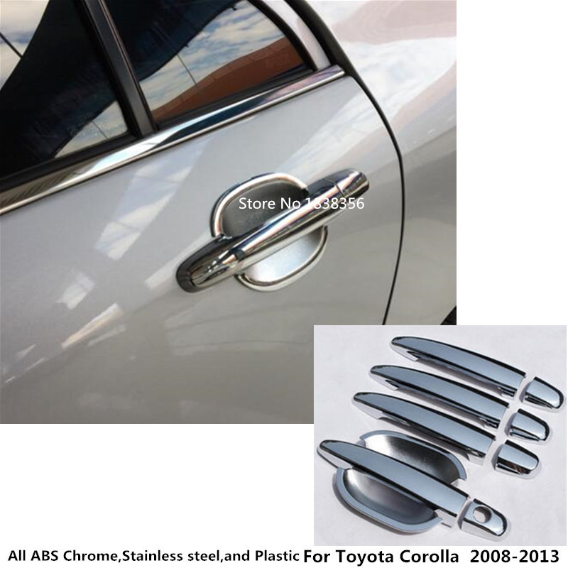 Car cover frame panel lamp trim ABS chrome door handle and bowl hoods For Toyota Corolla Altis 2008 2009 2010 2011 2012 2013