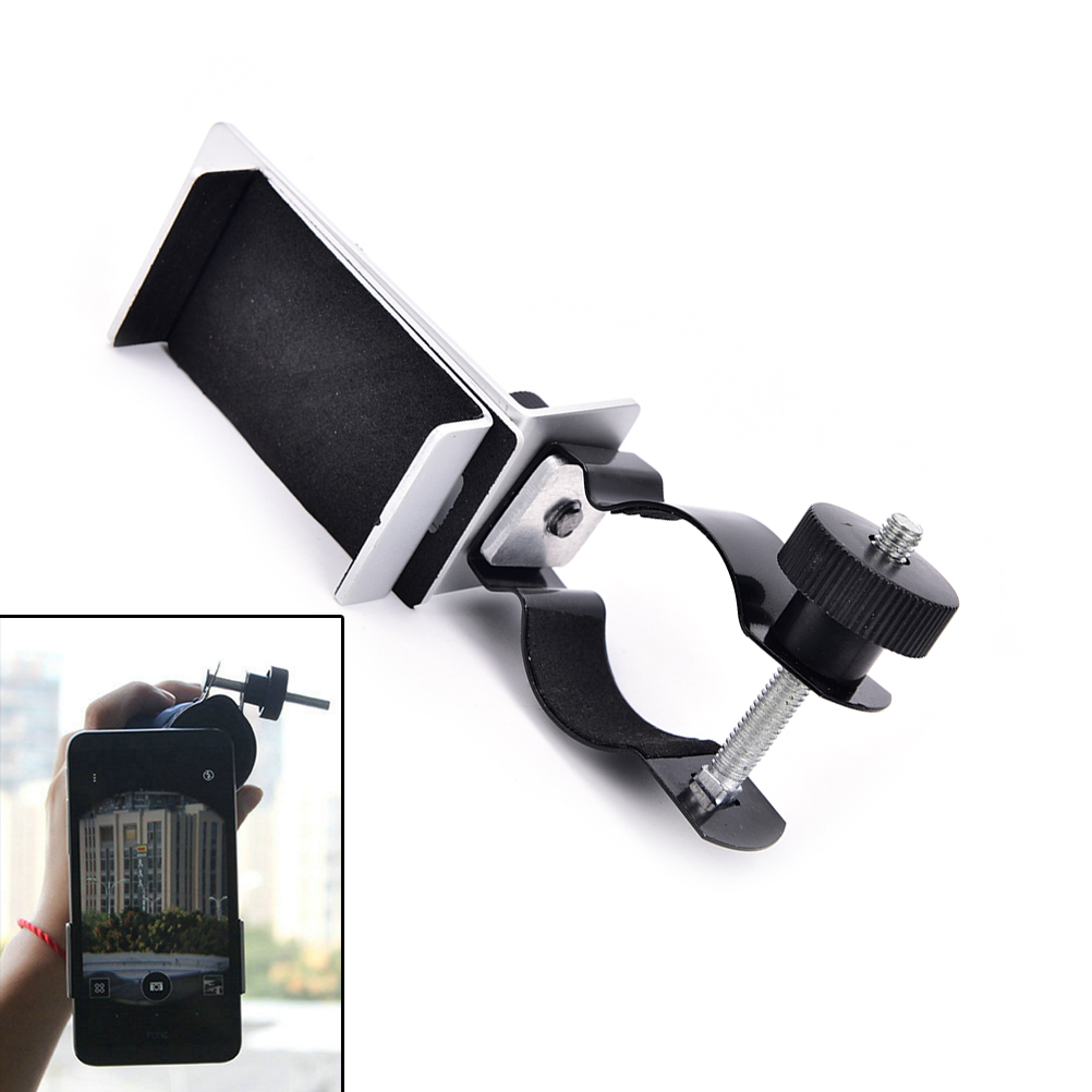 1Pc Spotting Scope Cellphone Adapter Mount- Universal Digiscoping Binocular, Telescope, Microscope Adapter Clip Outdoor Tools