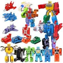 Блоки трансформации игрушки сборка образовательный блок фигурка