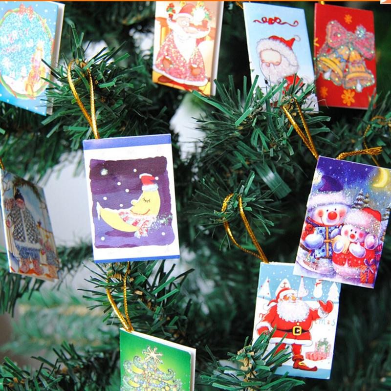 12pcs merry christmas wish cards greeting card sticker ornaments 12pcs merry christmas wish cards greeting card sticker ornaments pendant christmas tree ornaments fashion gifts xmas in pendant drop ornaments from home m4hsunfo