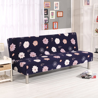 Monily Flower Printed Universal Spandex Elastic Sofa Cover Stretch Anti dity Bench Cover No Armrest Folding Cover Sofa Bed Cover