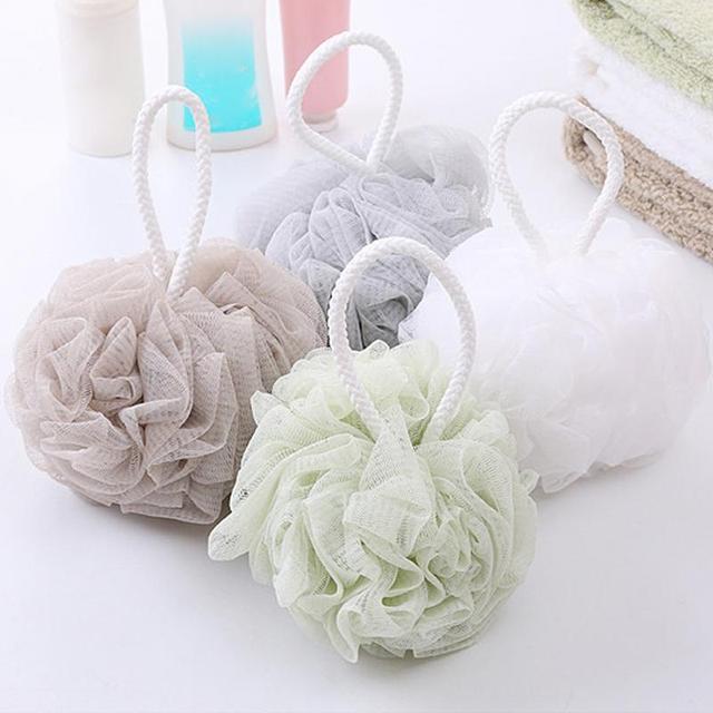 Nuevo baño suave masaje corporal baño burbuja bola grande baño flor malla baño ducha suministros baño esencial 18 Top caliente