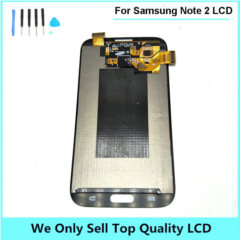 For Samsung Galaxy Note 2 ii N7100 LCD Display Touch Screen Digitizer Original Free Shipping 5pcs/lot free shipping