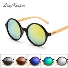 2017 Unisex Round Retro Bamboo Sunglasses