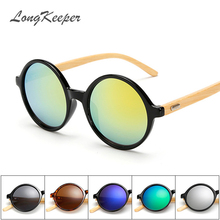 2017 New Fashion Products Men Women Sun Glasses Bamboo Sunglasses Retro Vintage Wood Lens Wooden Frame Handmade Round 1527
