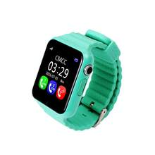 V7K GPS Bluetooth Smart Watch for Kids Boy Girl Safe Anti-Lost Monitor Christmas Gift (Green)(China)