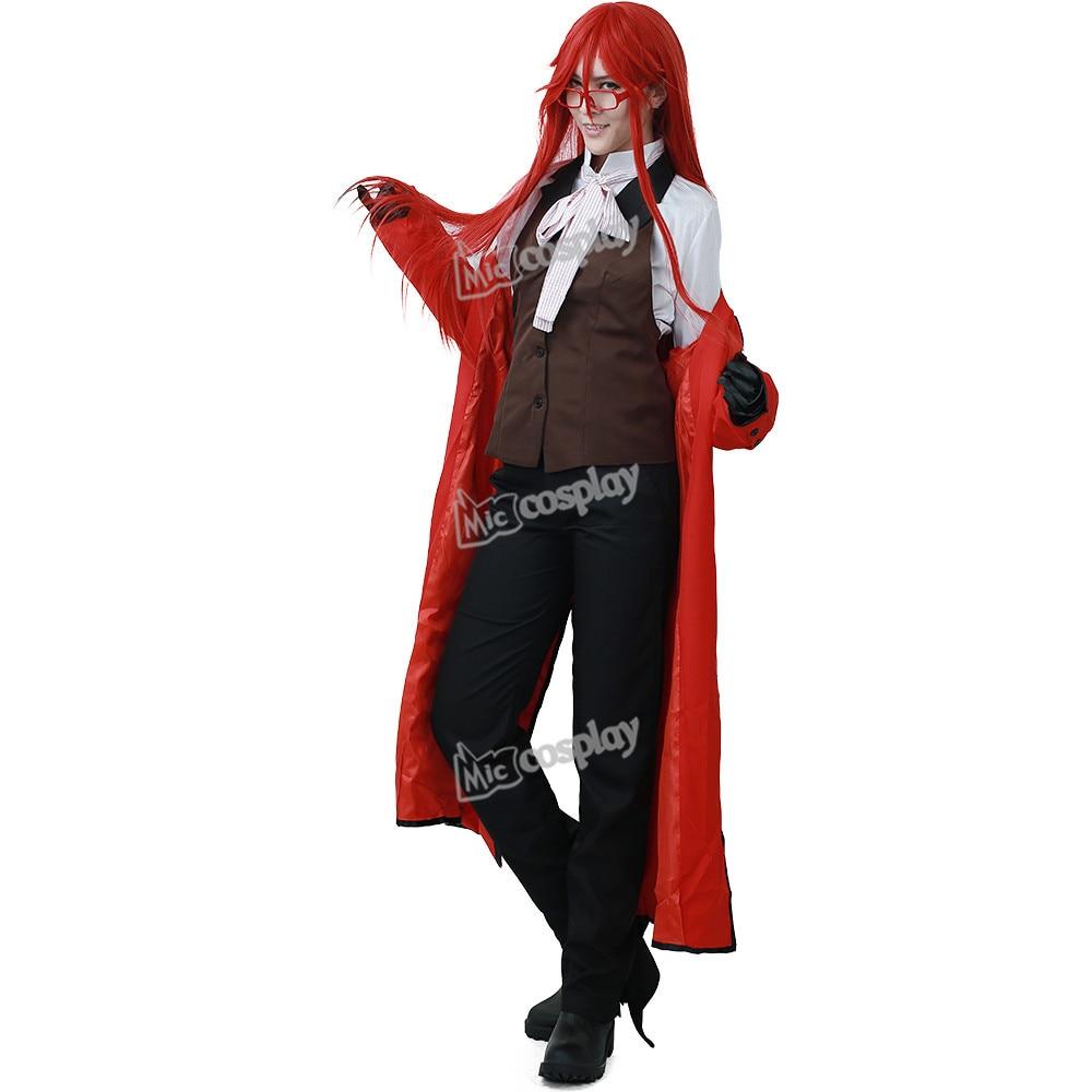 Anime Black Butler Grell Sutcliff Cosplay Costume Men Women Unisex Clothing