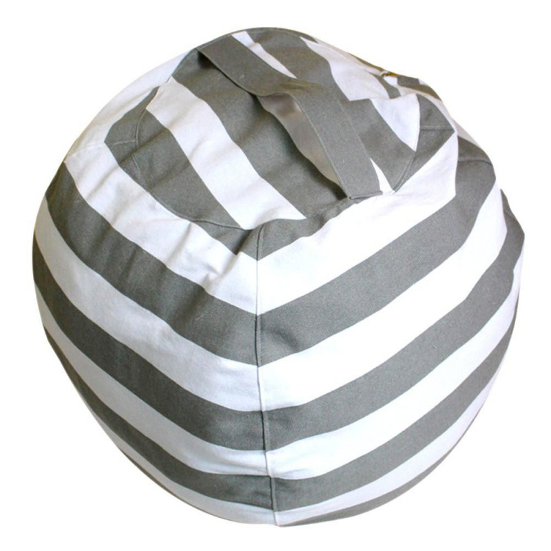 New Creative Modern Storage Stuffed Animal Storage Bean Bag Chair Portable Kids Clothes Toy Storage Bags