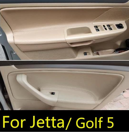 Cover Armrest-Panel Microfiber Interior Vw Jetta Mk5/golf-5 For With Mount-Fittings Car-Door-Handle