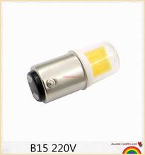 Lâmpada regulável de led ba15d, 5w ac 12v 220v cob 1511 led para máquina de costura de lustre