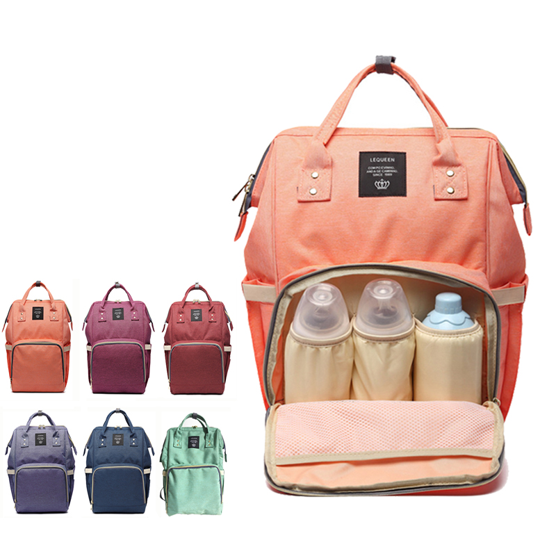 Fashion Mummy Maternity Nappy Bag Brand Large Capacity font b Baby b font Bag Travel Backpack