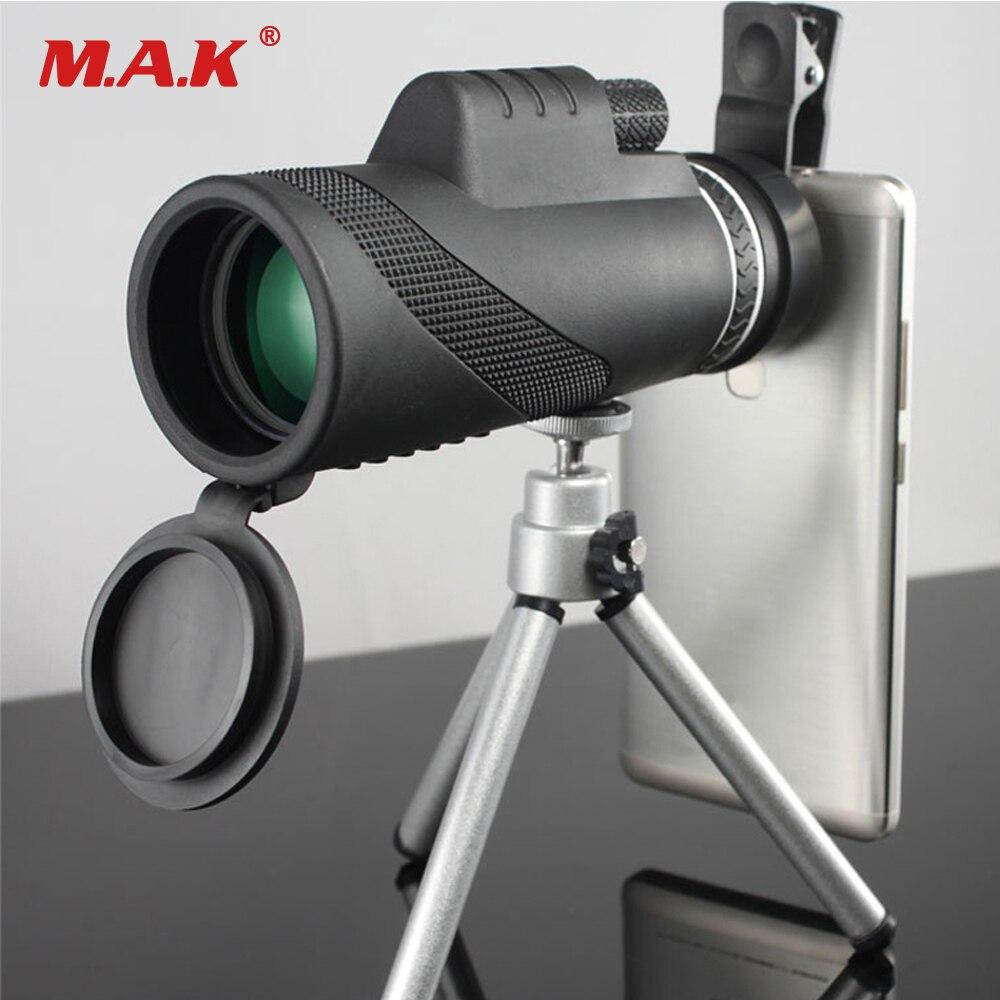 Di alta Qualità Monoculare 40x60 Potente Binocolo Zoom Campo Occhiali Grande Palmare Telescopio Militare HD Professionale di Caccia