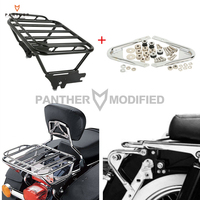 Motorcycle Luggage Rack with Docking Hardware Case for Harley Touring FLHR FLHT FLHX FLTR 1997 2008