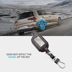Image 4 - Оригинальный кожаный чехол для ключей для Pandora DXL 3000 3100 3170 3300 3210 3500 3700 два пути будильник машины Системы ЖК дисплей дистанционного Fob чехол сумка для ключей