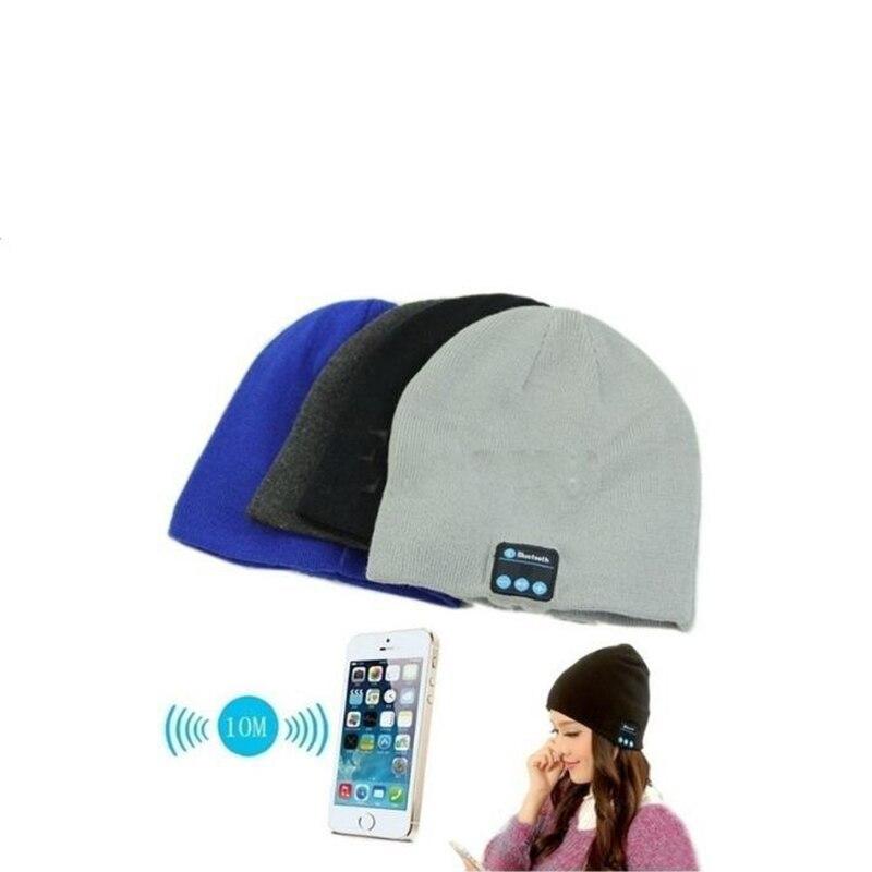 Mulheres Inverno Quente Beanie Hat Cap homens boble fone de ouvido Sem Fio Bluetooth Inteligente Speaker Pompom Chapéus de Crochê Gorro De Malha de Lã Caps