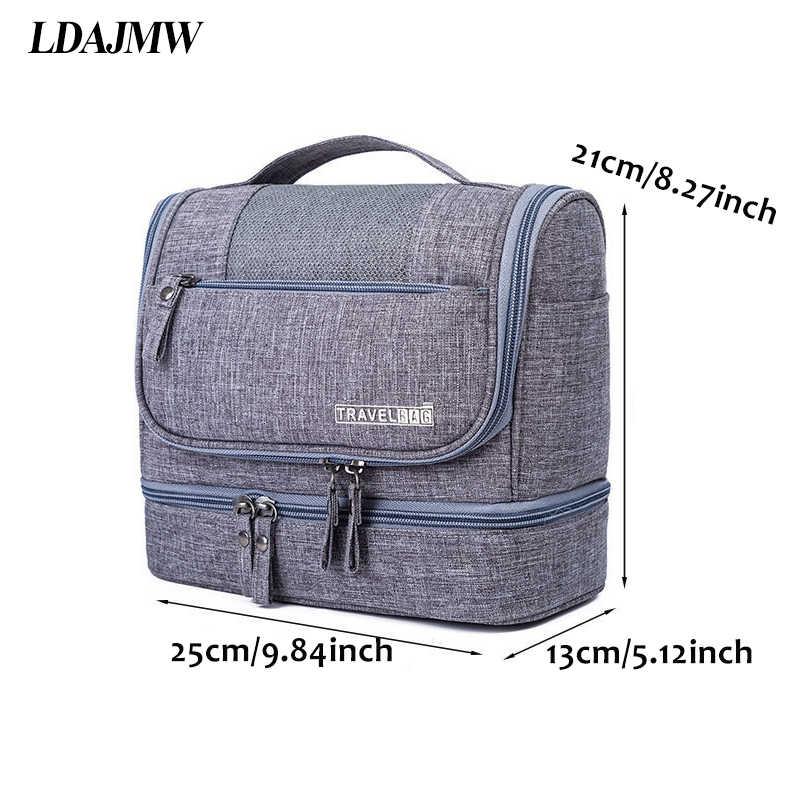c294a1b8eaa2 LDAJMW Hanging Type Cosmetic Storage Bag Folding Travel Toiletry Bag Men  Women Wash Bag Travel Organizer
