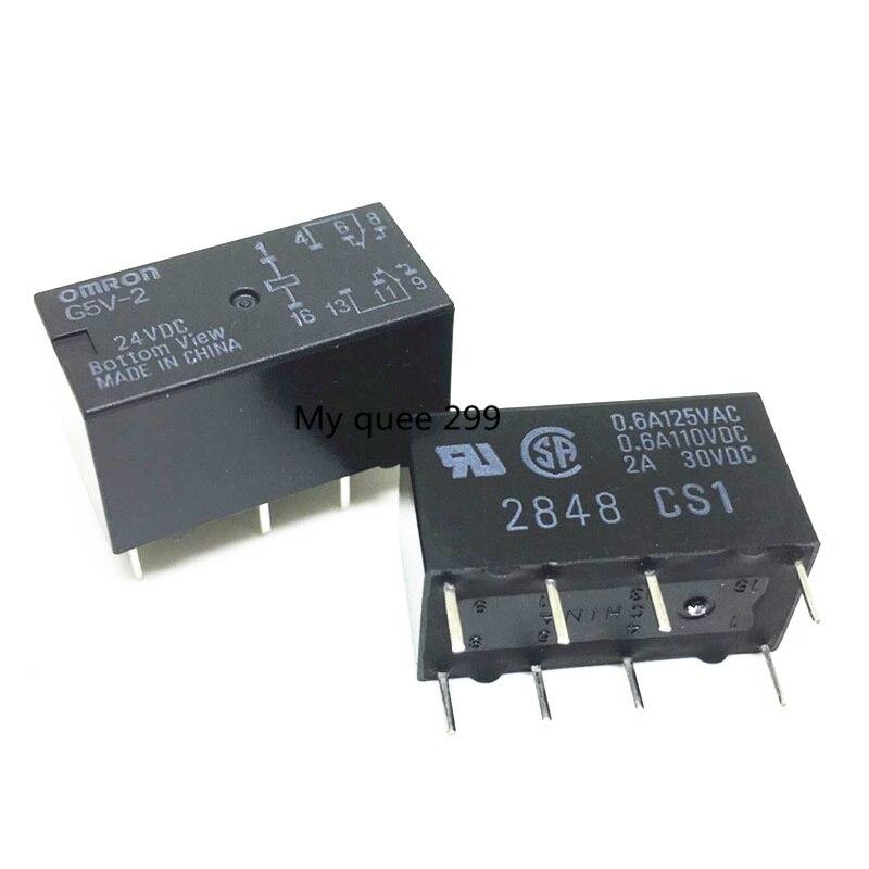 50PCS new original Omron Relay G5V 2 G5V 2 24V 24VDC G5V 2 DC24V G5V 2