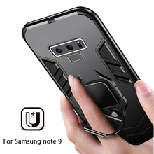 Shockproof Armor Phone Case For Samsung Galaxy A7 A8 Plus 2018 J4 J6 Prime Note 9 Cover For Samsung A7 Finger Ring Holder Case