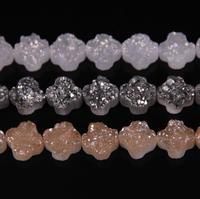 3 Color choice Shiny Aura Druzy Beads Strand,16mm Flower Druzy Stone Beads,Loose Druzy Geode Raw Drusy Jewelry Making Supplies