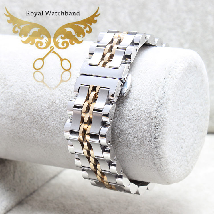 ФОТО New Arrival 20mm Top Grade Stainless Steel Watch Band Double Push Buckle/Clasps Strap Bracelet For Watches