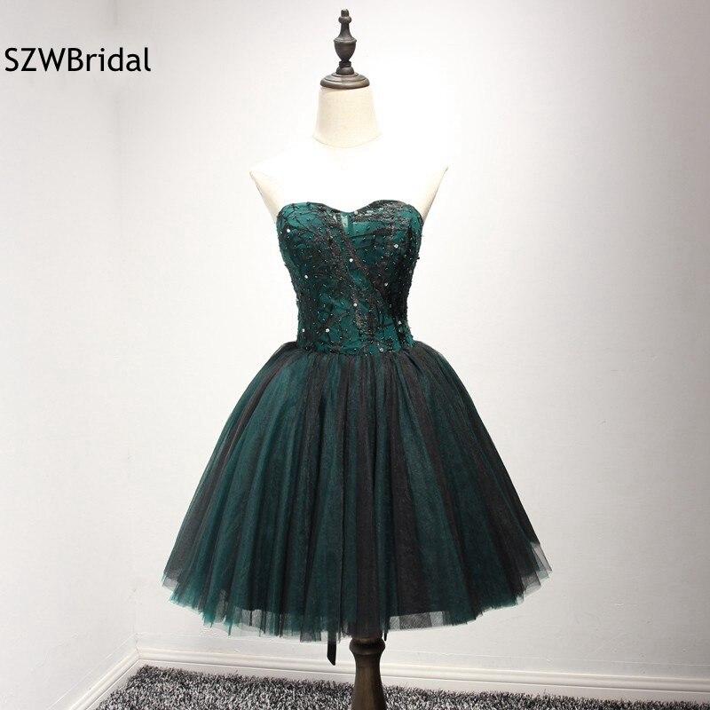 Ever pretty Off the épaule contraste vert robes de cocktail fête 2019 sexy robe Vestido de festa curto jurken robe de Cocktail