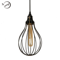 Classical retro pendant light LED E27 industrial simple hanging lamp with switch for living room restaurant bedroom pathway shop