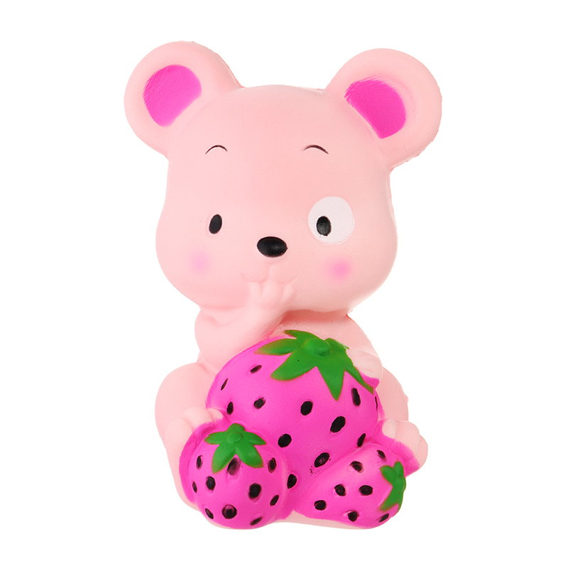 Jumbo Cute Squishyed Toy Cartoon Strawberry Rat Hamster Mouse Slow Rising Soft Squeeze Scented Cake Bread Fun Kid Toys Gift