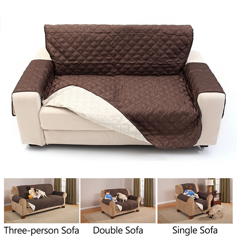 Sofa Cover Pet Cat Dog Double Side Cushion Chair Slipcover Single Sofa Cover Protector Throw Pet Dog Kids Mat Armchair Furniture Protector