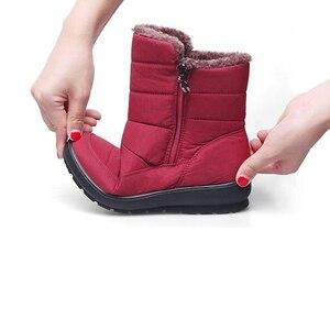 Image 2 - TIMETANG 2019 yeni kaymaz su geçirmez kışlık botlar artı pamuk kadife kadın ayakkabı sıcak ışık büyük boy 41 42 kar bootsE1872