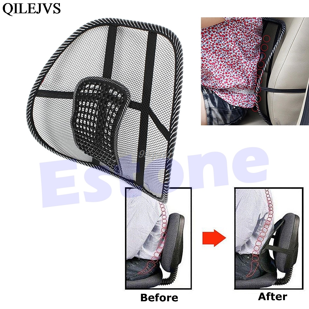 Vent Massage Cushion Mesh Back Lumber Support Office Chair Car Seat Pad New Cool Drop shipping