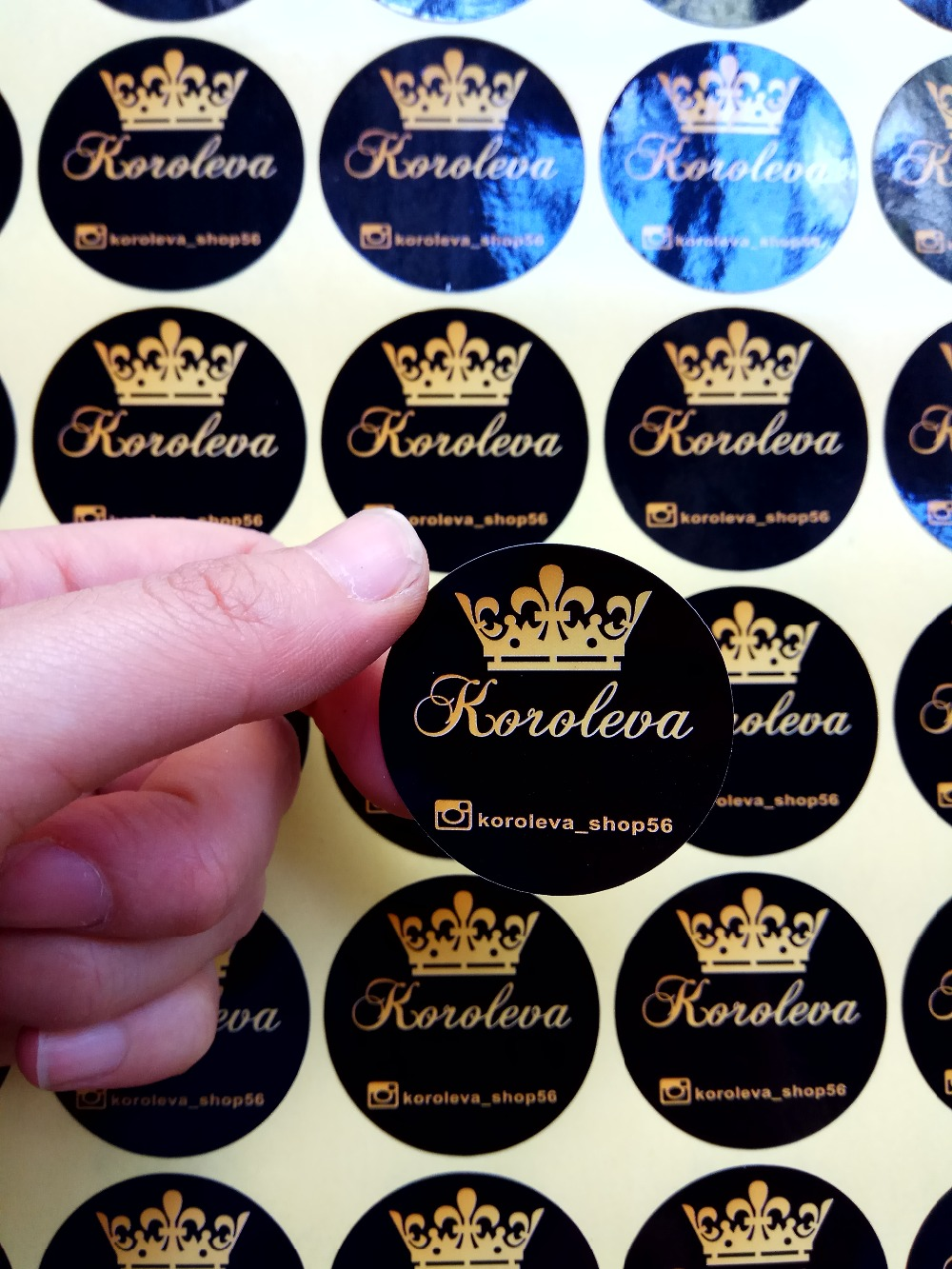 55mm custom adhensive sticker with custom logo 500pcs