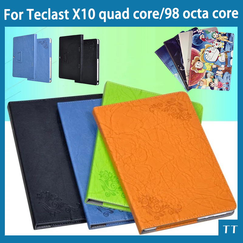 High quality Stand Character Pu Leather Case For Teclast 98 octa core / X10 quad core 10.1 case cover + Screen Protector fashion 2 fold folio pu leather stand cover case for teclast x10 quad core 98 octa core 10 1inch tablet pc
