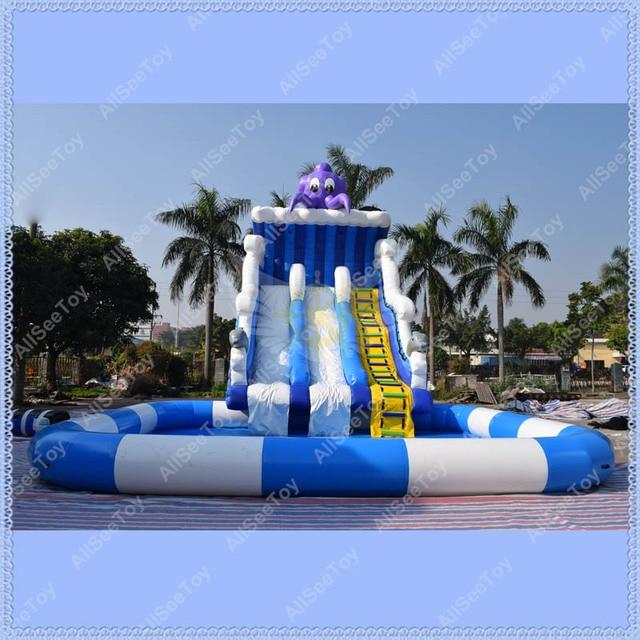 438746b9fe535 Giant Octopus Inflatable Pool Slide