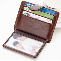 Itopkris Men Leather Bank Credit Card Holder Case Multi Card Organizer Coin Pocket Rfid Wallet Travel