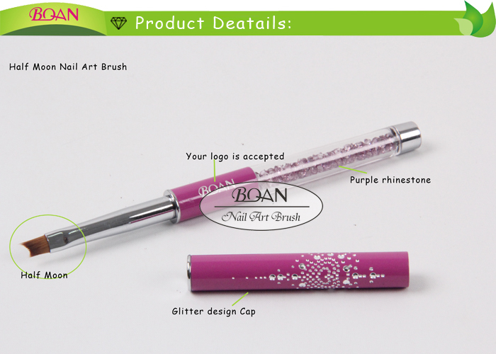 Bqan Rhinestone Professional Nail Art Design Smile Nails Brushes For
