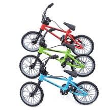 Горячая дети мини моделирование сплава палец велосипед игрушки Рождественские день рождения подарки для детей гриф игрушечные велосипеды с тормозным Канатом