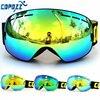 COPOZZ Brand 1 Ski Goggles Double Layers UV400 Big Ski Mask Glasses Skiing Men Women Snow