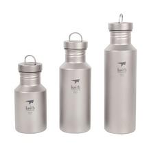 Keith 400 ml/550 ml/700 ml Titanium Botella de Agua para Acampar Al Aire Libre Hervidor Deportes de Titanio Ti3030/Ti3031/Ti3032