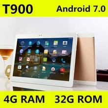 4 г LTE Android 7.0 Tablet PC Tab Pad 10.1 дюймов IPS Octa core 4 ГБ Оперативная память 32 ГБ Встроенная память Dual SIM карты LTE FDD телефонный звонок 10.1 «Phablet