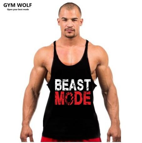 2017 Men tank tops font b fitness b font gym clothing men Sleeveless Shirt O Neck