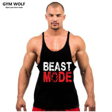 2017 Men tank tops fitness gym clothing men Sleeveless Shirt O-Neck gold gym Bodybuilding Stringers Fitness sport gym men tops