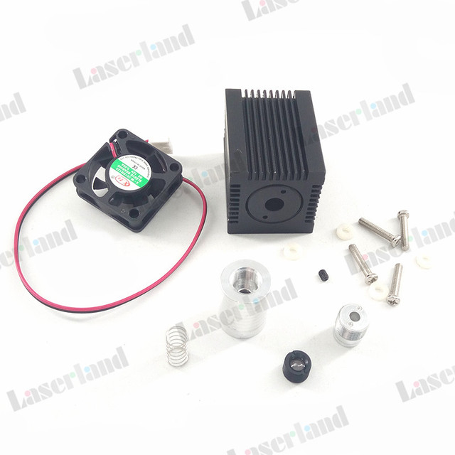Fokussierbar Gehäuse Fall Kühlkörper für 5,6mm BIS Laserdiode LD Modul Objektiv Fan