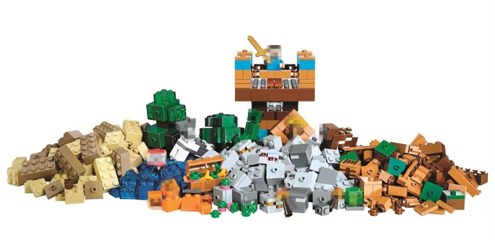 BELA the Crafting Box 2.0 Building Blocks Sets Bricks My worlds Movie Model Kids Minecrafted Toys For Children Compatible Legoe wange mechanical application of the crown gear model building blocks for children the pulley scientific learning education toys
