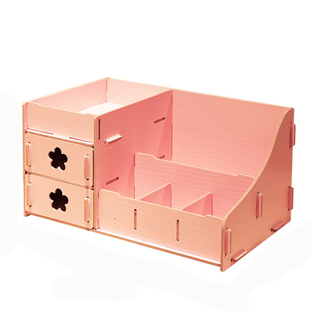 Korea style wooden storage box DIY creative storage box for jewelry