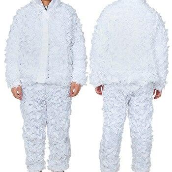 Зимний Камуфляжный охотничий костюм Ghillie, снежно-белая камуфляжная одежда для занятий спортом на открытом воздухе, тренировочная форма для ...