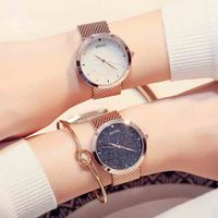 Women watch fashion steel ladies watch European and American style big dial with rose golden watchband