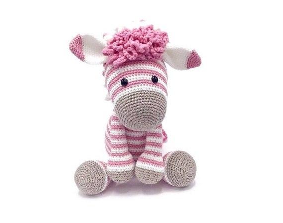 Crochê brinquedos amigurumi zebra boneca bonito