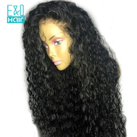 180% Density 360 Lace Frontal Wigs Water Wave Lace Wig Pre Plucked With Baby Hair Brazilian Remy Human Hair Wigs Bleached Knots